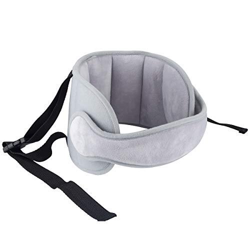 Luchild Bébé Support de Tête de Voiture Tête d'oreiller de sécurité bébé Réglable, Tête Fixation Holder Pour Enfants, Protéger Cou/Epaules (gris)
