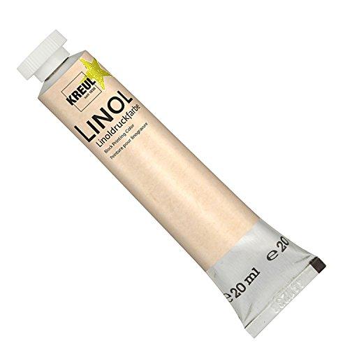 Kreul 15702 - Linoldruckfarbe Tube, 20 ml, gelb