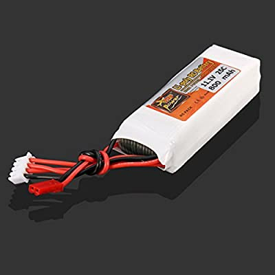 Bluelover ZOP Power 11.1V 800MAH 25C Lipo Battery JST Plug