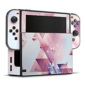 DeinDesign Skin Aufkleber Sticker Folie für Nintendo Switch Triangles Dreiecke Galaxy