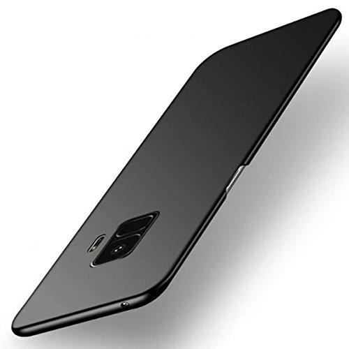 Funda Samsung Galaxy S9 Plus, TIANQIN Ultra-Delgado Carcasa Protectora Ultra Ligera PC Plástico Duro Case Anti-Rasguños Parachoque Estilo Simple para Samsung Galaxy S9 Plus Estuche - Negro