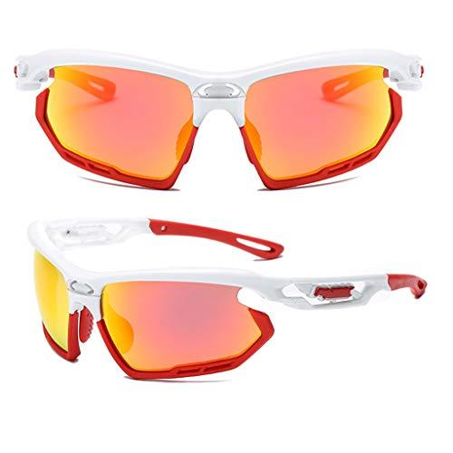 Makefortune 2019 Sportbrille, Polarisiert Fahrradbrille Sport Sonnenbrille für Herren und Damen UV400 Schutz Extra Leicht TR90 Polarisierte Radbrille Herren Verschiedene Linsenfarben zur Wahl