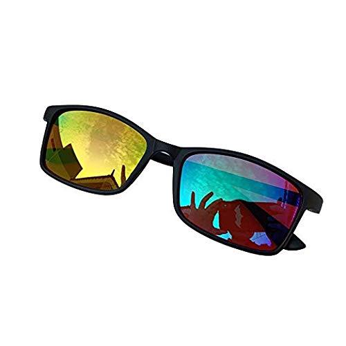 SMYJZZ Color Blind Corrective Glasses für Rot/Grün Color Blind (Color Blind Glasses) Farbstörung Farbschwäche Art Chemical Construction Design Unisex
