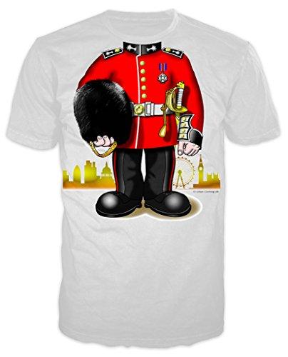 Royal Guard Kostüm Erwachsene Joke T-shirt (weiß) Gr. Medium, Weiß (Royal Palace Guard Kostüm)