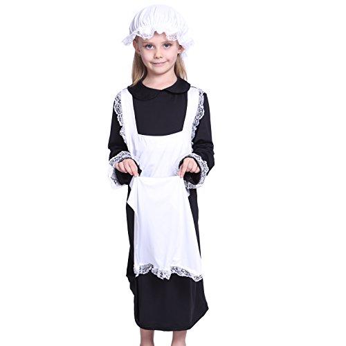 Maedchenkostuem Maedchen Kostuem 120-130cm Viktorianisches Hausmaedchen Zimmermaedchen (Kostüm Viktorianisches Kinder)