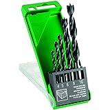 Hitachi 781981-Set de 3 forets à bois 5 pointes pièces 4/5/6/8/10 mm