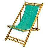 Bambus Relax Liegestuhl Türkis Strandstuhl Terrassenliege Gartenstuhl 60x135cm