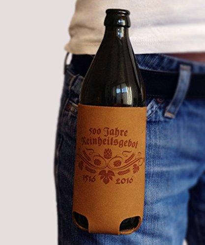 Bierholster Reinheitsgebot - Limited Edition - Das Original aus echtem Leder - Bier Holster Bierhalter