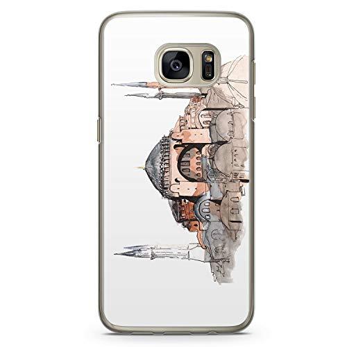 Hagia Sophia Ayasofya Istanbul Türkei - Hülle für Samsung Galaxy S7 Edge - Motiv Design Türkiye Cami Islam - Cover Hardcase Handyhülle Schutzhülle Case Schale