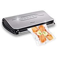 4 in 1 Vacuum Sealer Machine - Sous Vide Vacuum Sealing Vac Pack Machine,  Automatic Vacuum Sealing System with Cutter , Vacuum Roll and Sealer Bags for Food Preservation (2018 New Design), Yocool
