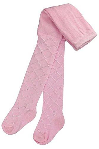 MANSURI SUPGOD Stoff Luxus Kinder Strumpfhosen mit Gitter Design von Soft Touch Weiß, Creme oder pink in Neugeborenen, 0-3, 3-6, 6-12,12-18,18,24Monate Baumwoll-Mischgewebe, T35 -