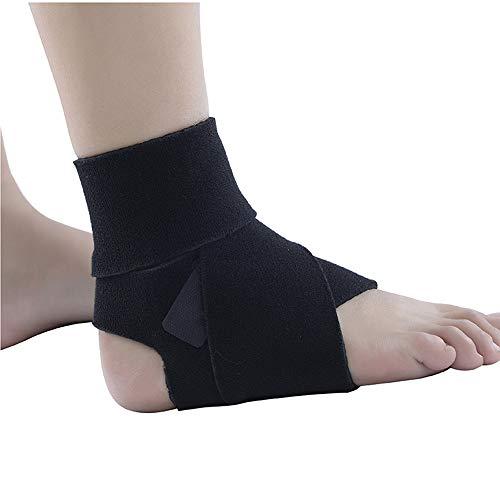 WY- SPLINTS Sprunggelenkbandage mit Klettverschluss, stützt den Fuß beim Sport wie Handball, Fußball, Volleyball. Fußgelenkbandage für Damen, Herren und Kinder, rechts und Links tragbar, schwarz