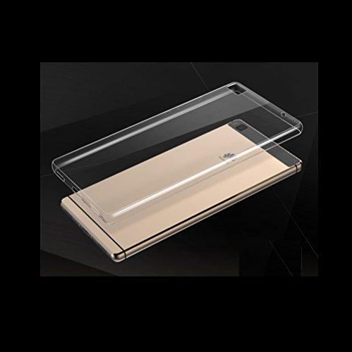 Minto Ultradünn TPU Hülle iPhone 8 Plus / iPhone 7 Plus Silikon Schutzhülle Handyhülle Case Crystal Cover Durchsichtig transparent 0.6mm Ascend P8