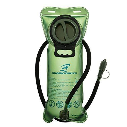 SHARKMOUTH 2Liter Trinkblase-Heavy Duty Ersatz Wasserreservoir-undurchlässig Cap-Beste für Wandern, Camping, Radfahren, Jagd -