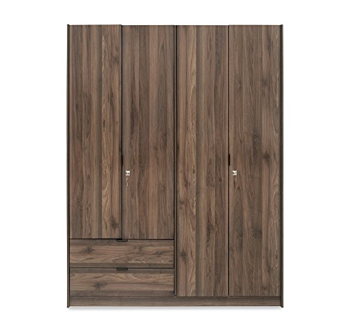 @home by Nilkamal Avery 4 Door Wardrobe (Modi Wenge)
