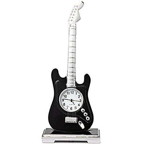 paracity (TM) coupe-cabriolet/Gitarre/Fahrrad/Flugzeug/Pegasus Pferd Quarzuhr Edelstahl Körper rund Zifferblatt, Guitar Black, Gitarre -