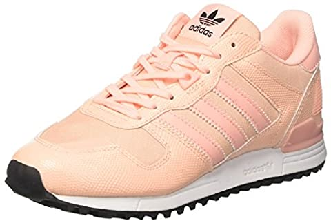 adidas ZX 700, Baskets Basses Femme, Orange (Haze Coral/Haze Coral/Core Black), 37 1/3 EU