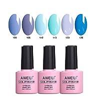 AIMEILI Gel Nail Polish Set Soak Off UV LED Gel Polish Multicolour/Mix Colour/Combo Colour Of 6pcs X 10ml - Gift Kit 32
