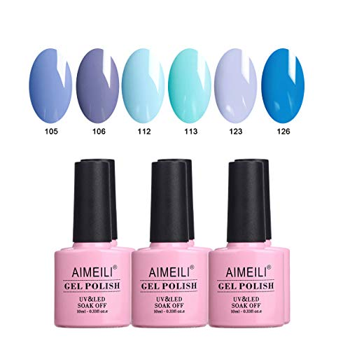 AIMEILI UV LED Gellack mehrfarbig ablösbarer Gel Nagellack Set Gel Nail Polish Kit - 6 x 10ml - Set Nummer 32 -