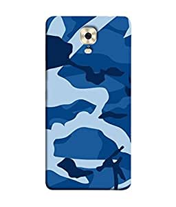 PrintVisa Designer Back Case Cover for Gionee M6 (Texture Paint Drawing Sky Blue White)