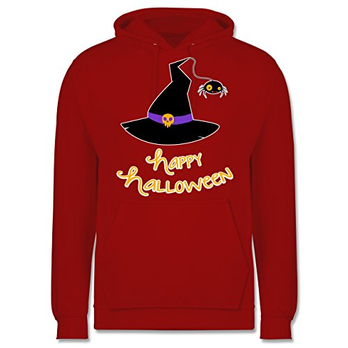 Halloween - Hexenhut Happy Halloween - Männer Premium Kapuzenpullover / Hoodie Rot