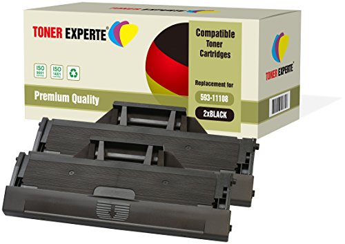2er-Pack TONER EXPERTE® Premium Toner kompatibel zu 593-11108 HF44N für Dell B1160, B1160w, B1163, B1163w, B1165, B1165nfw