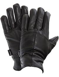 FLOSO - Gants Thinsulate en cuir véritable - Homme (3M 40g)