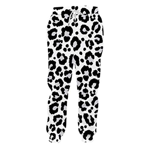 Snow Leopard Kostüm Mädchen - Jogger Fashion Long Animal 3D-Druck Snow Leopard Jogginghose Streetwear Oversized Garment Autumn Pants Snow Leopard XL