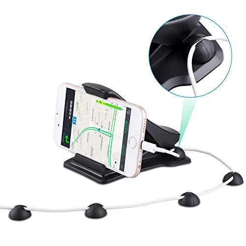 Handyhalterung Autohalterung für iPhone x/8/7/6s/plus Galaxy s9/s8/s7/s6/note GPS Navigation Dashboard, Handyständer für Apple Samsung LG Sony Smartphone, Fahrzeug Schreibtisch (schwarz) (Android-handy Prop)