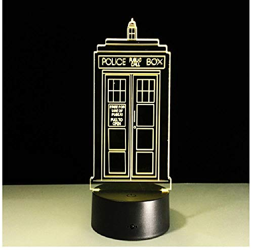 Polizei Boxen 3D Nacht Lampe Tardis Schlafzimmer Dekor Lampe Telefon Kiosk Neuheit Beleuchtung Callbox Led Nachtlicht -