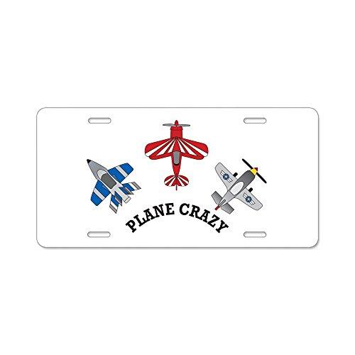 CafePress-Luftfahrt Flugzeug Crazy Aluminium Nummernschild-Aluminium Nummernschild, vorne Nummernschild, Vanity Tag -