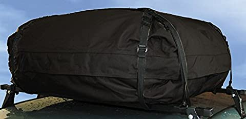 XtremeAuto® BLACK Waterproof Car Roof Storage Cargo Bag, for use with roof rails. EXTRA LARGE