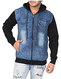Krystle Men's Hooded Denim Jacket