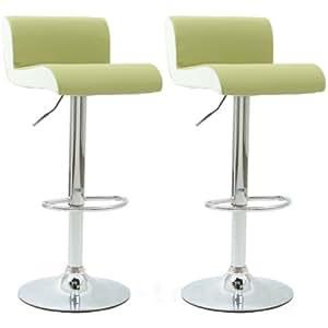 2x barsessel barhocker gr n weiss k che haushalt. Black Bedroom Furniture Sets. Home Design Ideas
