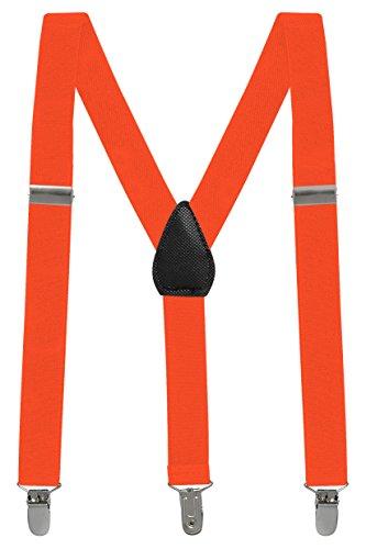 Buyless fashion pantaloni con bretelle di sostegno a y posteriore da bambino e bebè 2,5 cm regolabili ed elastici- con ganci forti e resistenti-5102 clr.: orange | dim.: 66 cm (3-9 anni)