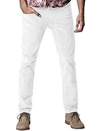 Match Herren Slim-Tapered Flat-Front Casual Kord Hose #8052