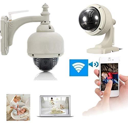 YA 720P Wireless Kamera 1,0 Megapixel H.264 Dome Wasserdichte WiFi-Sicherheit IP-Kamera Outdoor-Kamera Überwachungskamera weiß