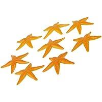 De Plastico De Juguete Modelo Ninos Estrellas De Mar De Color Amarillo Pvc 8pcs
