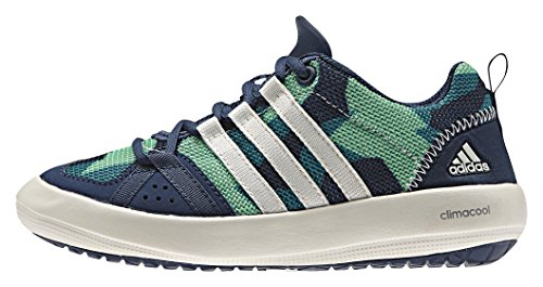 adidas Unisex-Kinder Climacool Boat Lace K Bootsschuhe, Blau (Mineral Blue S16/Chalk White/Green Glow S16), 28 EU (Boat Lace)