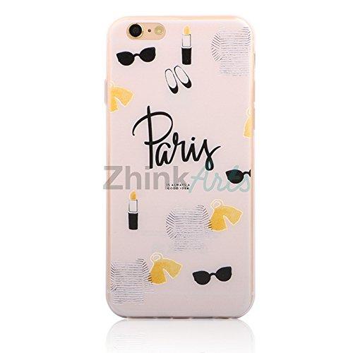 Handy Hülle mit Motiv Case Cover Silikon Schutzhülle TPU von ZhinkArts für Apple iPhone 7 Pusteblume Weiß M14 Paris M12