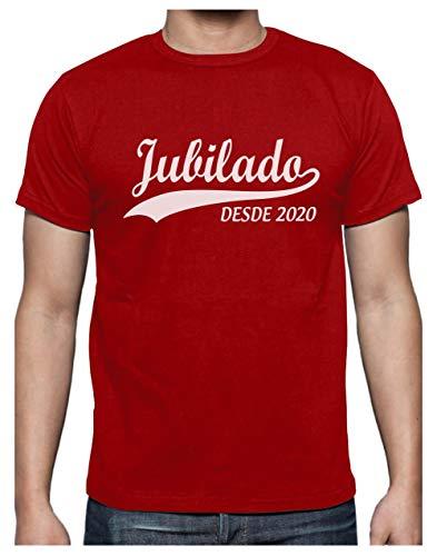 Green Turtle Camiseta para Hombre - Jubilacion Regalo - Jubilado Desde 2020 Large Rojo