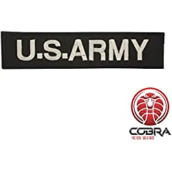 Cobra Tactical Solutions US ARMY bordado militar parche negro con cinta adhesiva para Airsoft