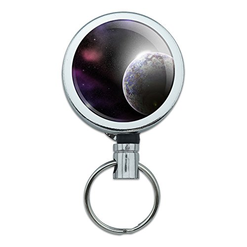 metall-retractable-reel-id-badge-key-halter-mit-gurtelclip-platz-und-aliens-planet-in-space-nebula-s