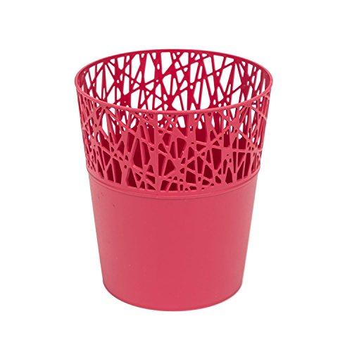 Rond cache-pot 16 cm CITY en plastique romantique style en framboise