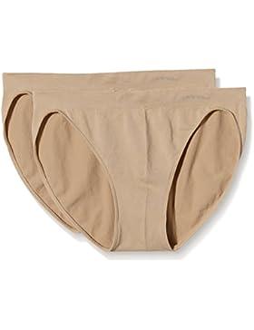 UNNO Auum301, Braguitas Bikini, Costuras Microfibra, Para Mujer, Pack de 2