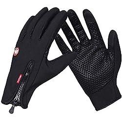 COTOP Im Freien Winddicht Smartphone Touchscreen Handschuhe Arbeit Radfahren Jagd Klettern Sport Handschuhe für Gartenarbeit, Erbauer, Mechaniker(Schwarz,XL)