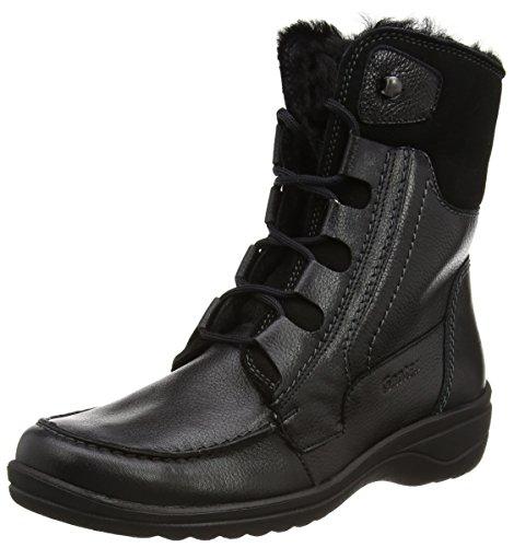 Ganter HANNA-STIEFEL Weite H Damen Kurzschaft Stiefel Schwarz (schwarz 0100)
