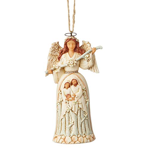 Heartwood Creek by Jim Shore White Woodland Angel Hanging Ornament -