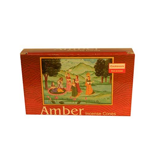 Räucherkegel 10 Amber incense Cones 1 Schachtel Räucherkerzen mit Halter Wohnaccessoire Raumduft
