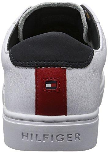 Tommy Hilfiger V1285enus 1a1, Sneakers Basses Femme Blanc (White 100)